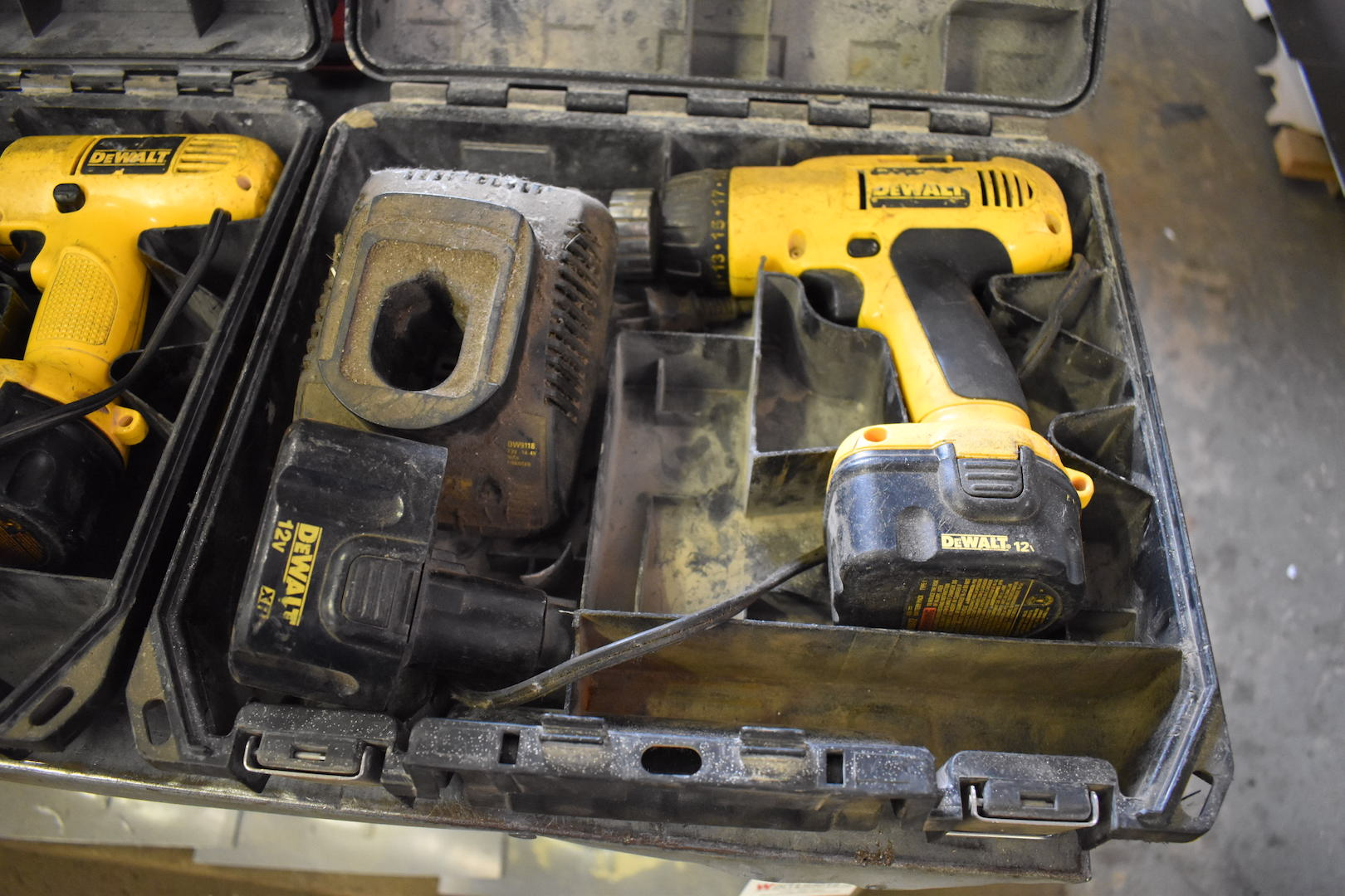"Lot 6 - Dewalt Model DW328 3/8"" Variable Speed Cordless Drill/Driver"