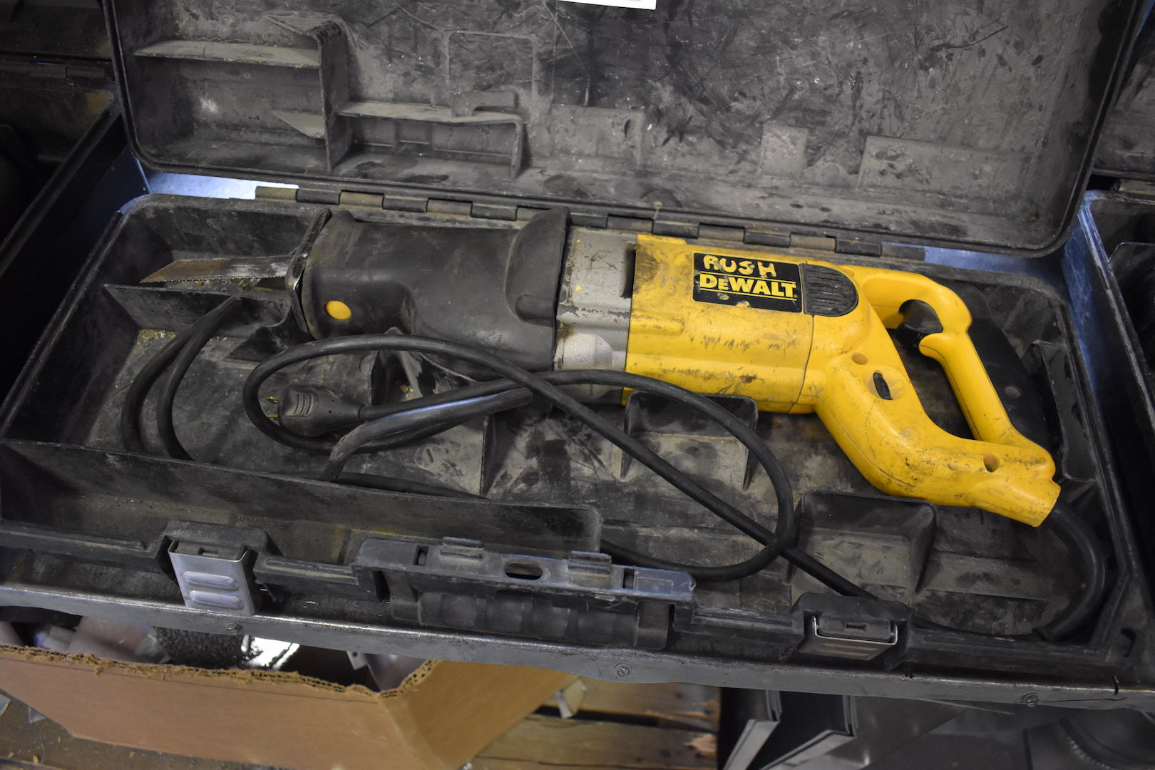 "Lot 3 - Dewalt Model DW309 1-1/4"" Stroke Electric Variable Speed Reciprocating Saw, S/N 35797"