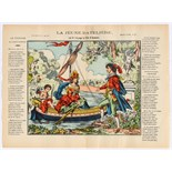 Advertising Poster Epinal Print The young boatwoman or the trip to the island of love (Song)
