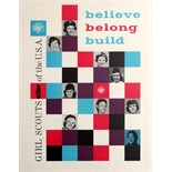 Advertising Poster Girl Scouts USA Believe Belong Build