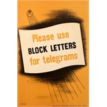Advertising Poster Block Letters For Telegrams GPO