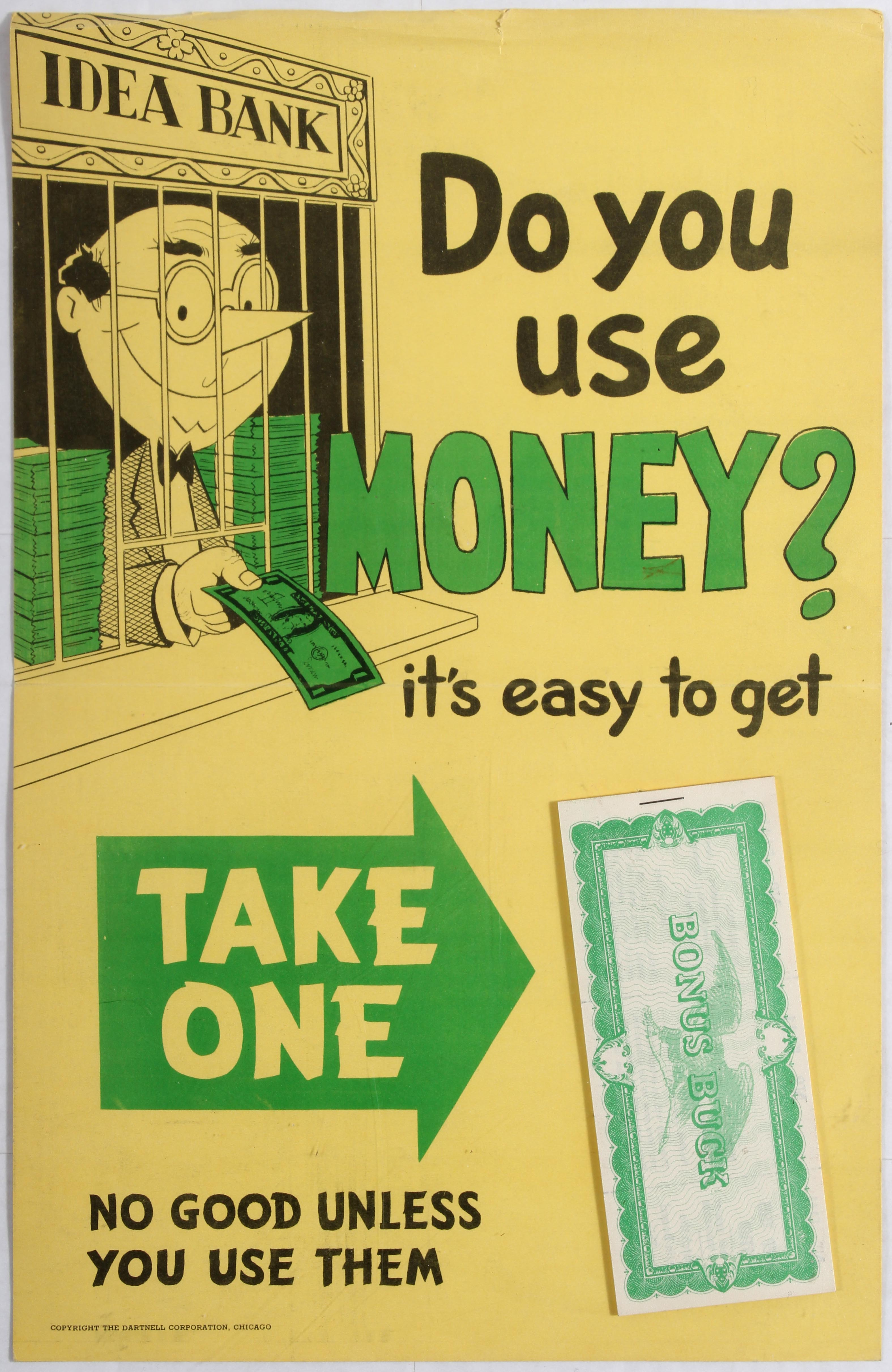 Advertising Poster Do you use Money? It's easy to get Mad Men