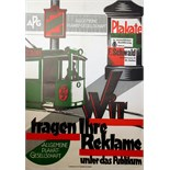 Advertising Poster F Schwald Poster Printers Modernist