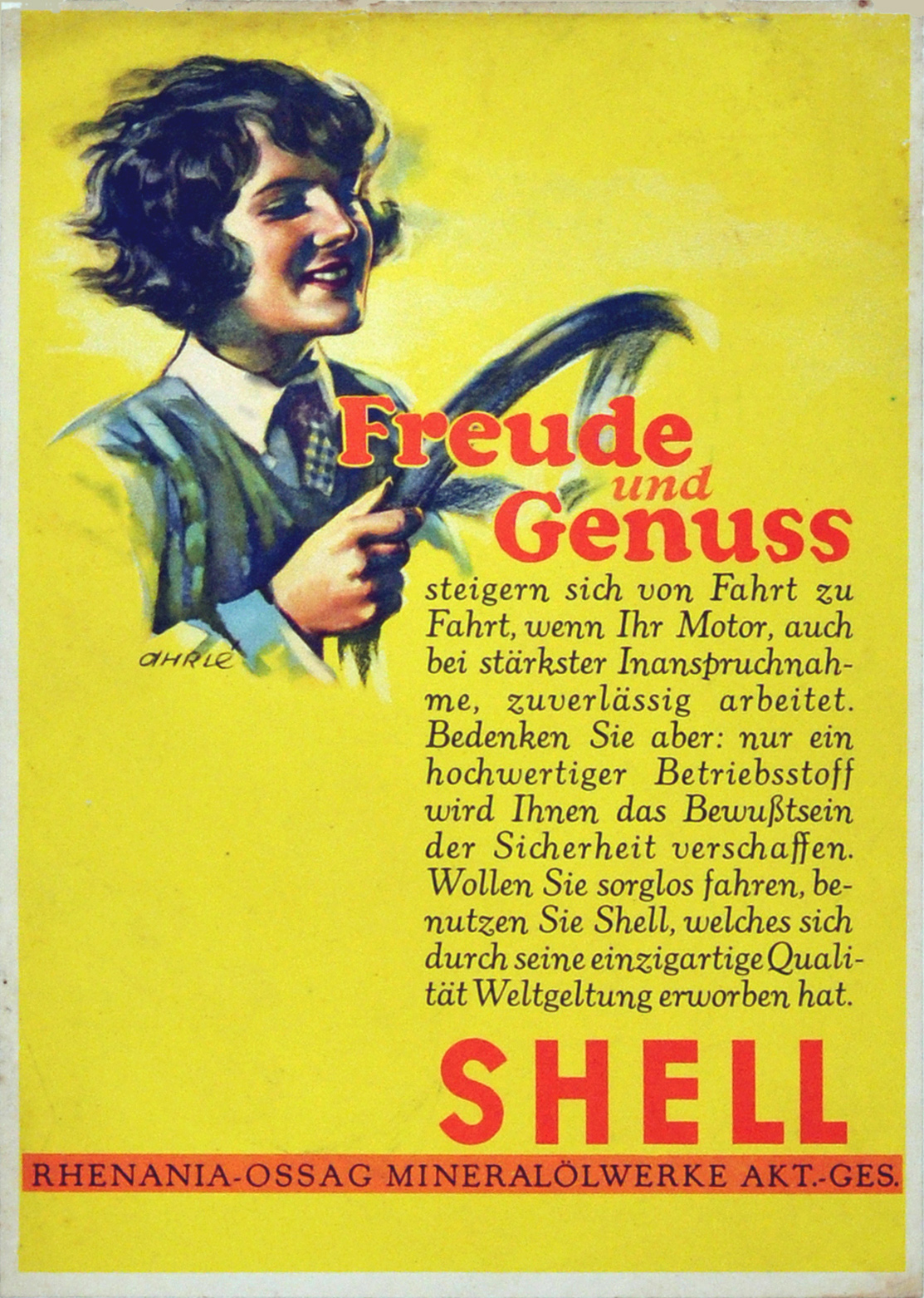 Advertising Poster Shell Lady Driver