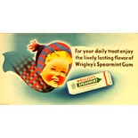 Advertising Poster Wrigley's Spearmint Gum