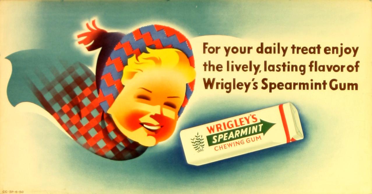 Advertising Poster Wrigley's Spearmint Gum