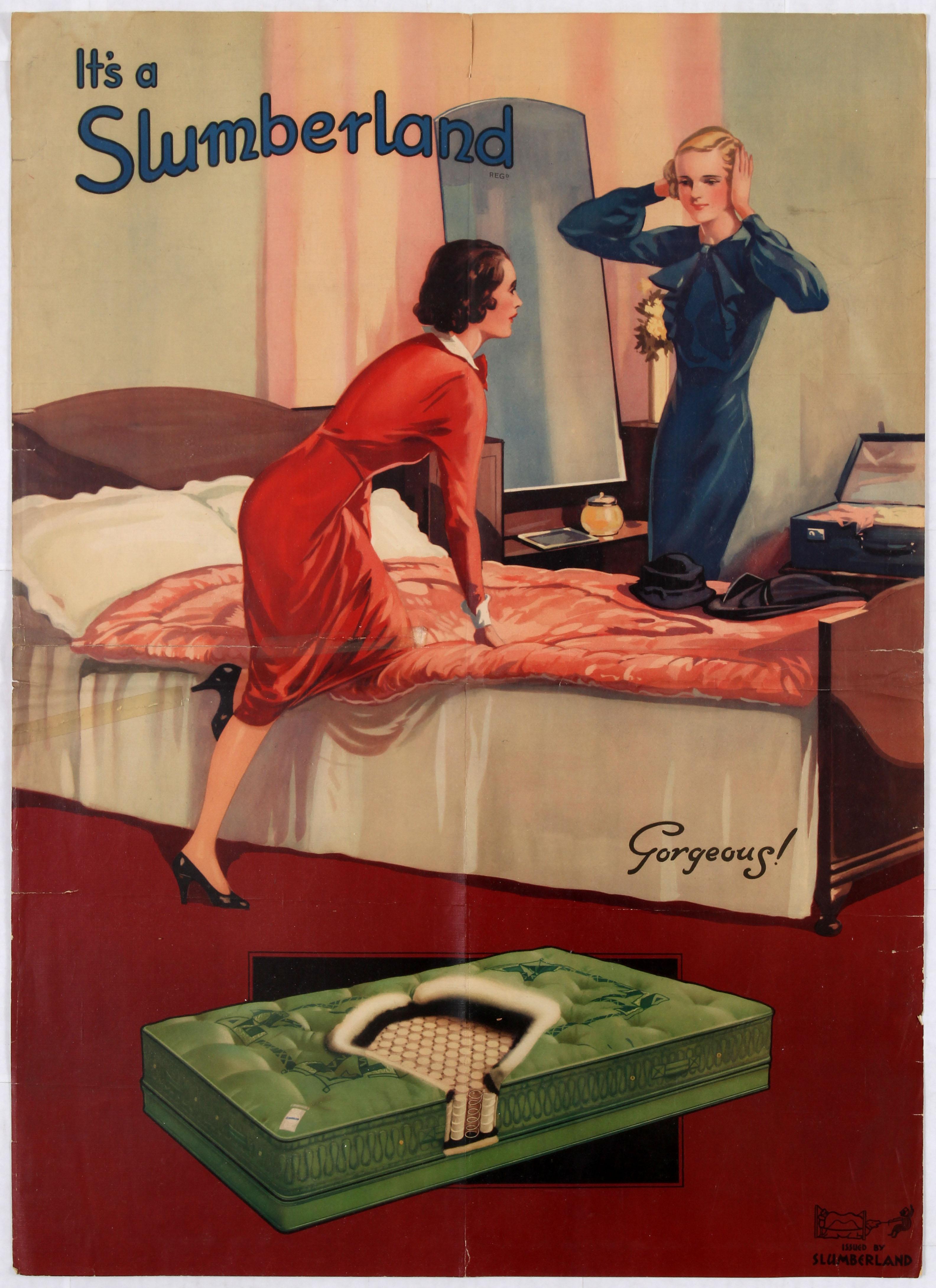 Advertising Poster Slumberland Matresses Gorgeous