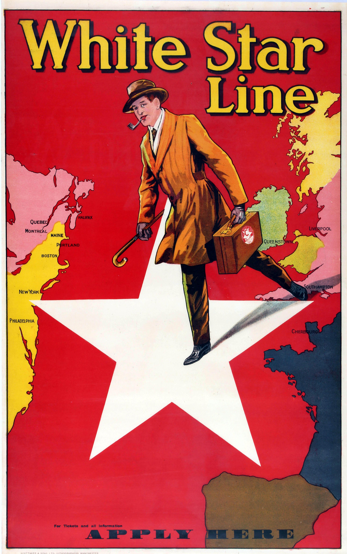 Travel Advertising Poster White Star Line