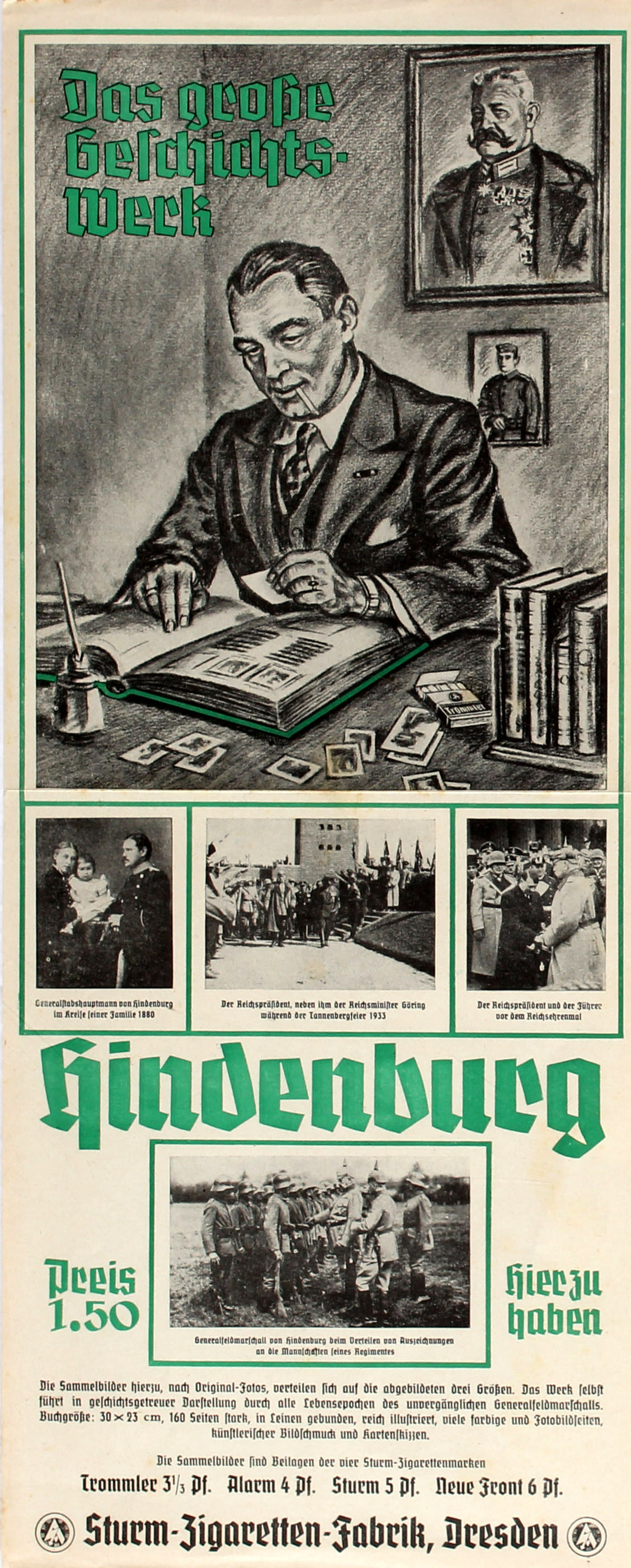Advertising Poster Hindenburg Cigarette Cards
