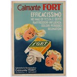 Advertising Poster Calmante Fort Pain Medicine Italy