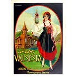 Advertising Poster Amaro Valsesia Alcohol Italy