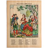 Advertising Poster Epinal Print We were three girls (Song)