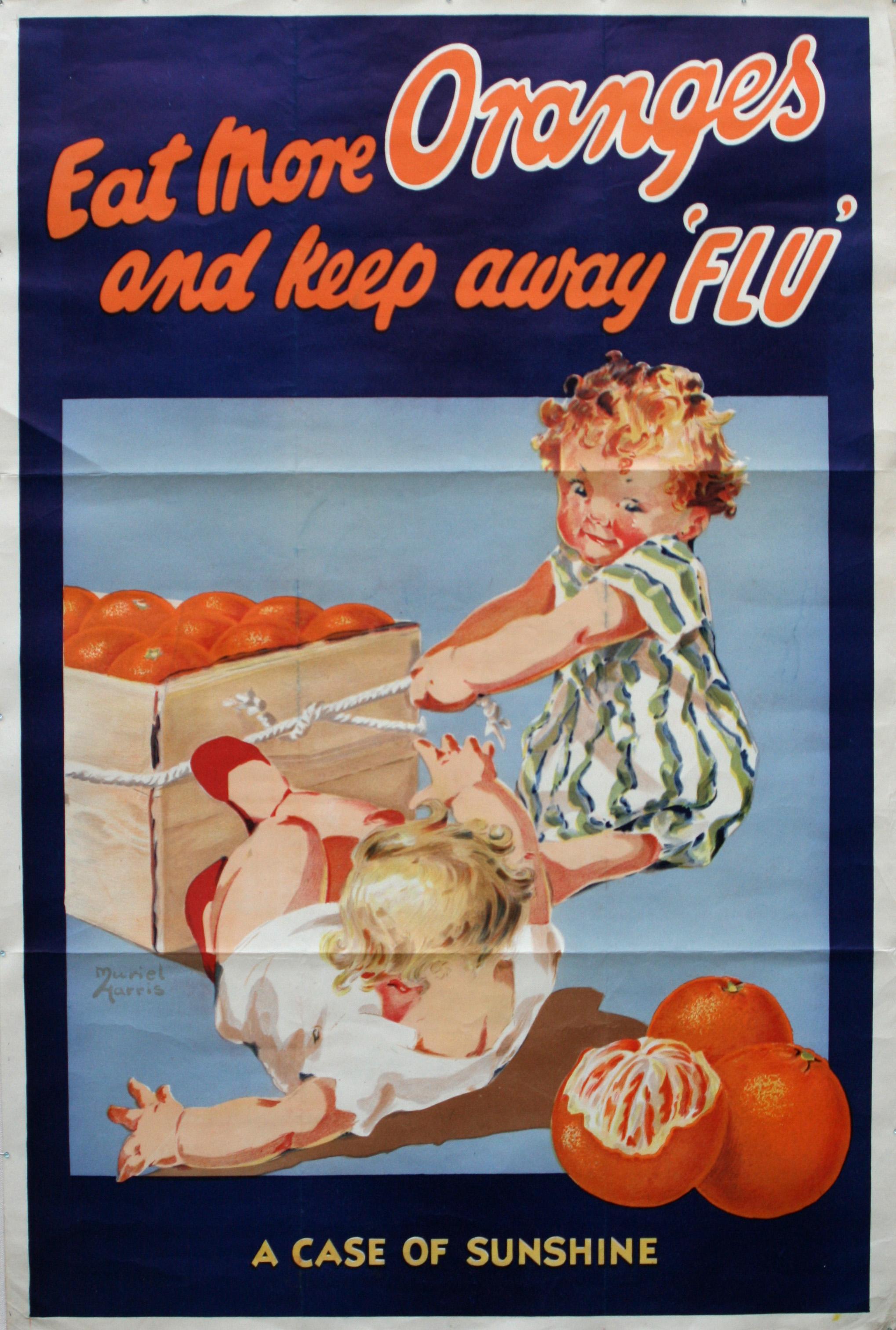 Advertising Poster Eat More Oranges