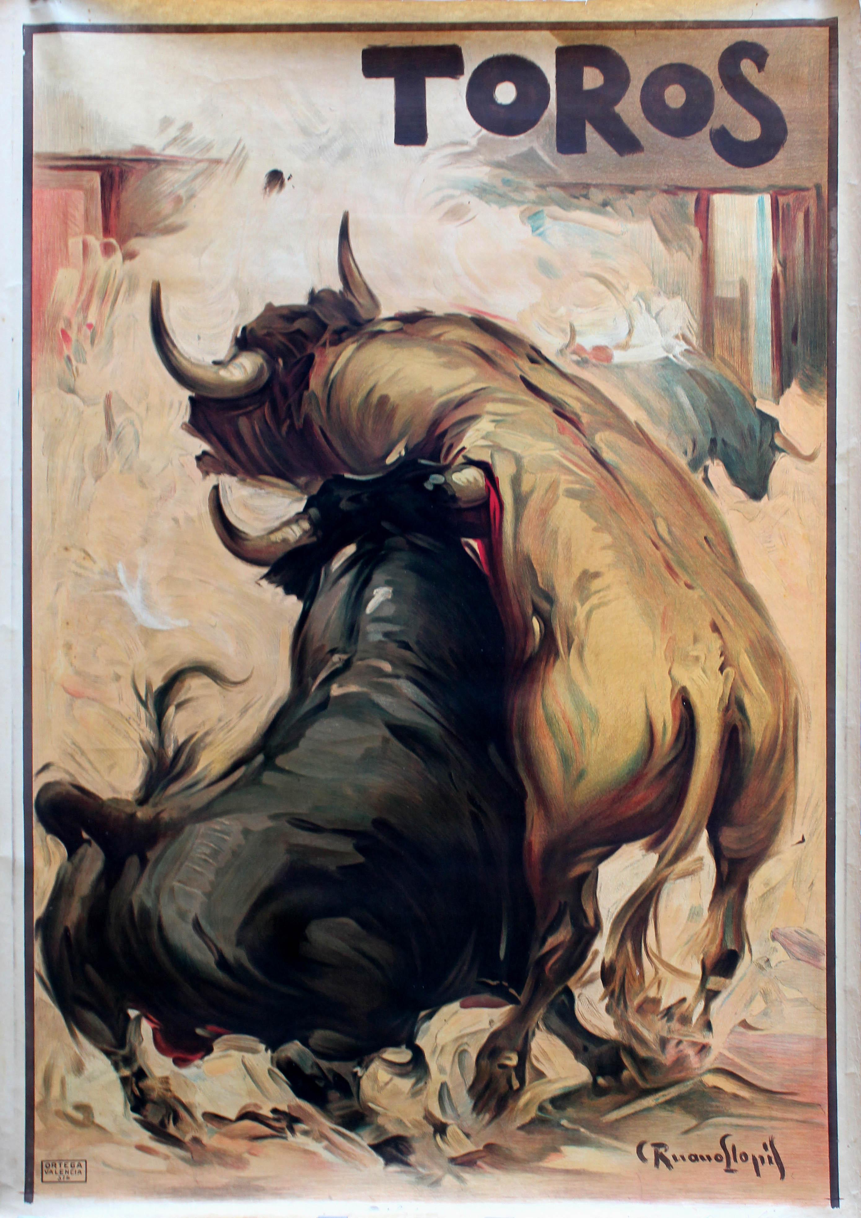 Advertising Poster Toros Bulls