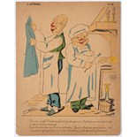 Advertising Poster Political Humorous Caricature Cooks Dites Donc Joseph
