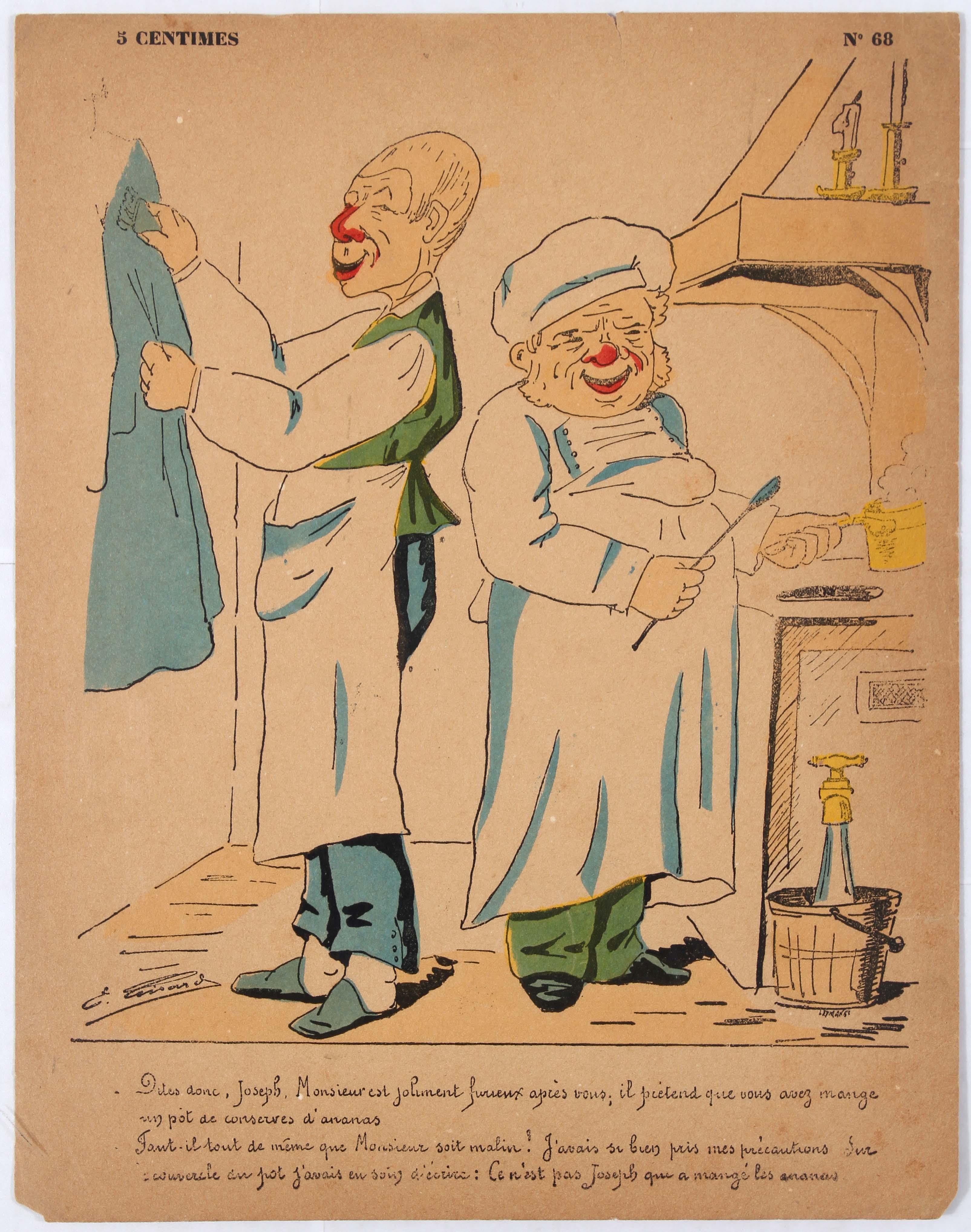 Advertising Poster Political Humorous Caricature Cooks Dites Donc Joseph