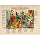 Advertising Poster Epinal Print Mister and Madame Denis Memories of two old spouses