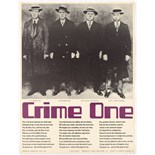 Poster Poem Crime One Christopher Logue Ian Cameron