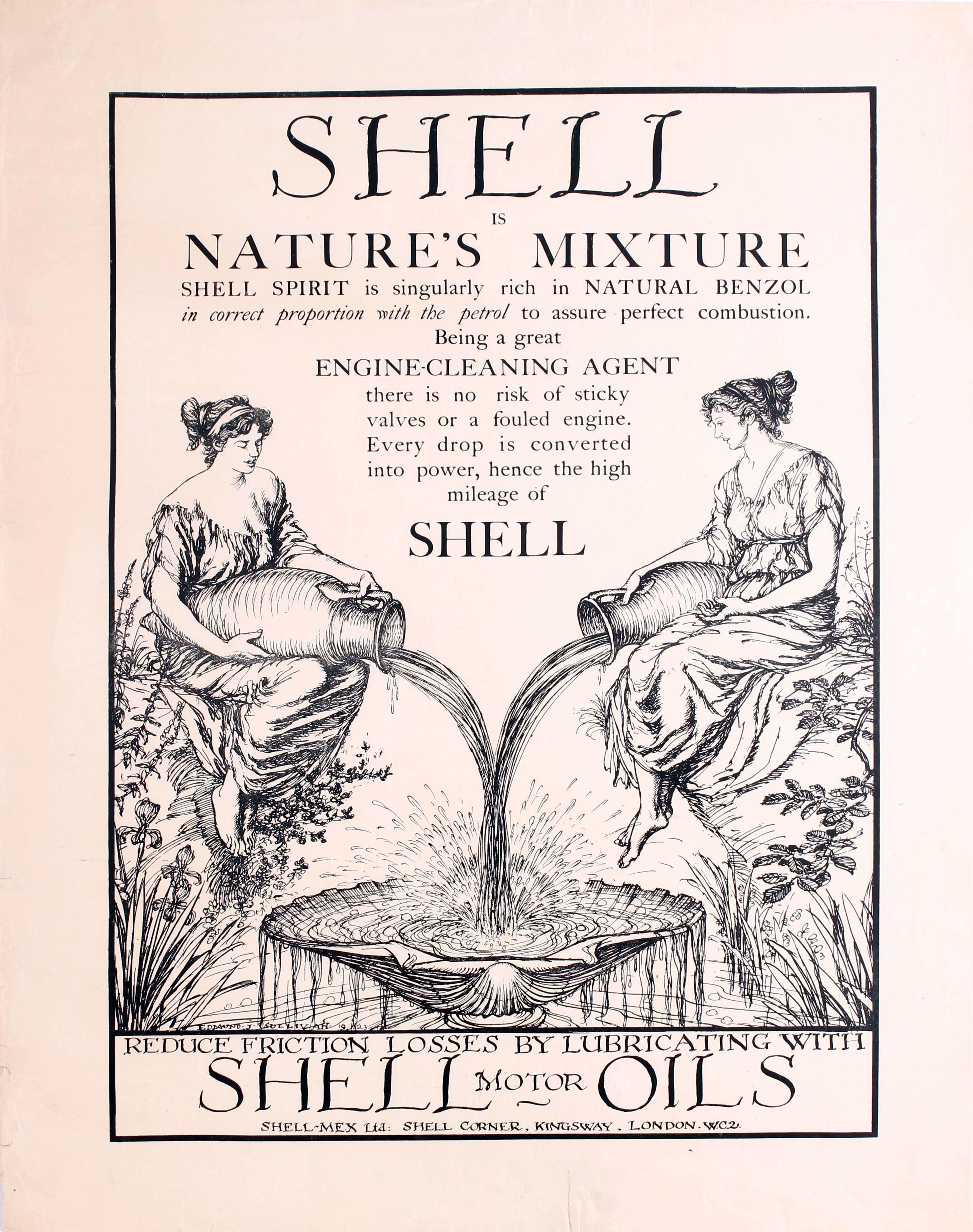 Advertising Poster Shell Motor Oils Sullivan
