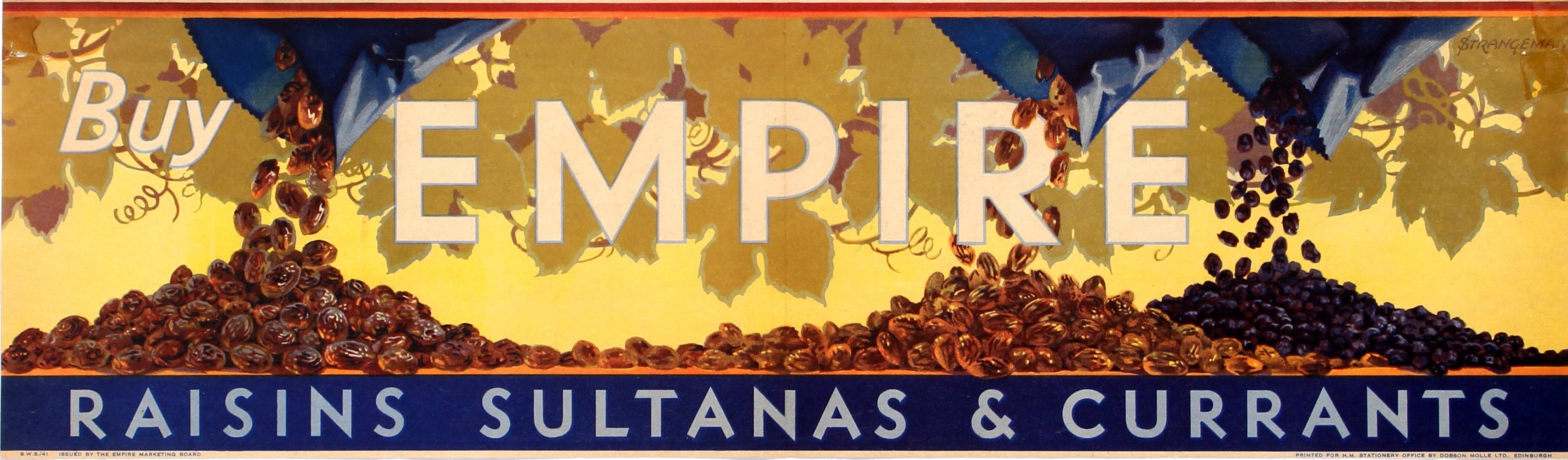 Advertising Poster Buy Empire Raisins Empire Marketing Board