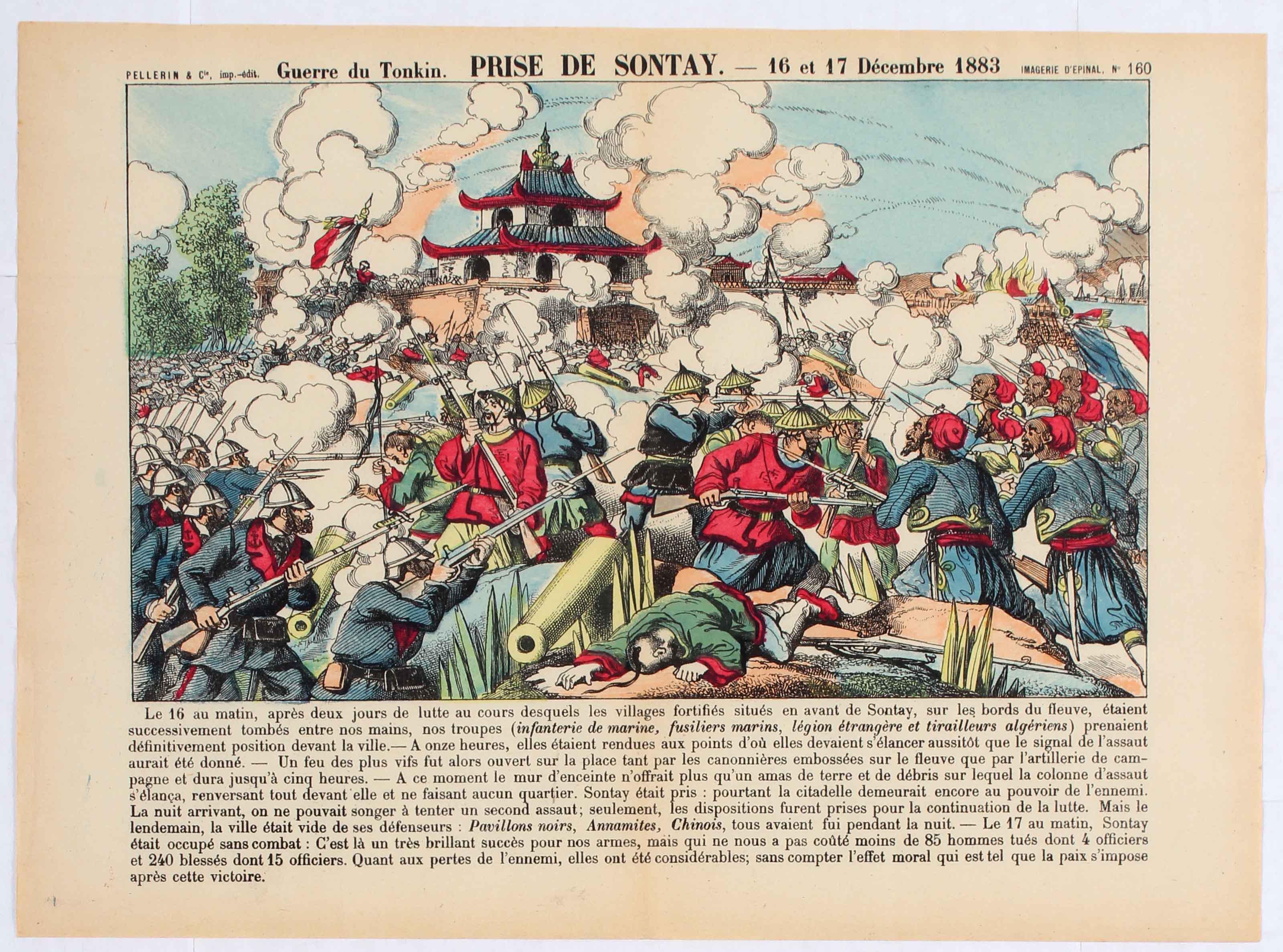 Poster War of Tonkin Capture of Sontay December 1883