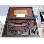 Starrett No.724 9''-12'' OD Micrometer with Standards