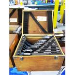 Fowler 0''-1'' - 11''-12'' Standard Micrometer Set