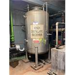 2,000 litre Stainless Steel Distillate Receiver Ve