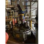2,250 litre Mild Steel Glass Lined Reactor Vessel