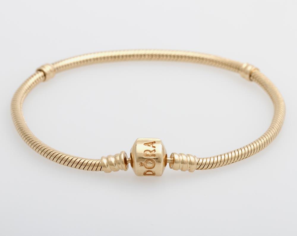 pandora armband gold 20 cm