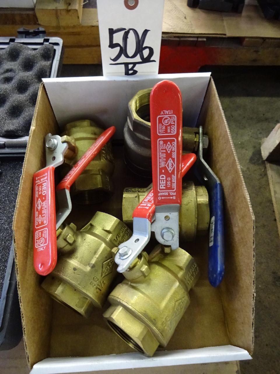 Lot 506B - LOT: Assorted 500 PSI Valves