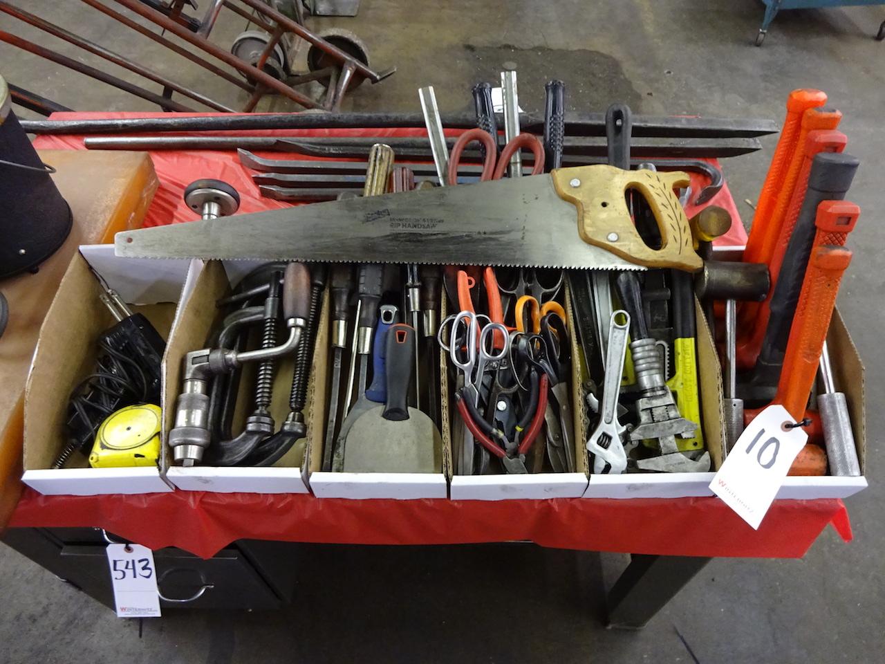 Lot 10 - LOT: Assorted Hand Tools