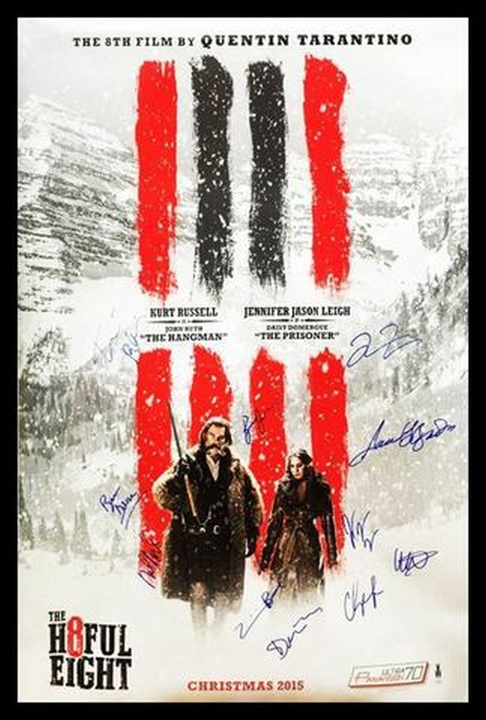 Hateful Eight - Signed Movie Poster