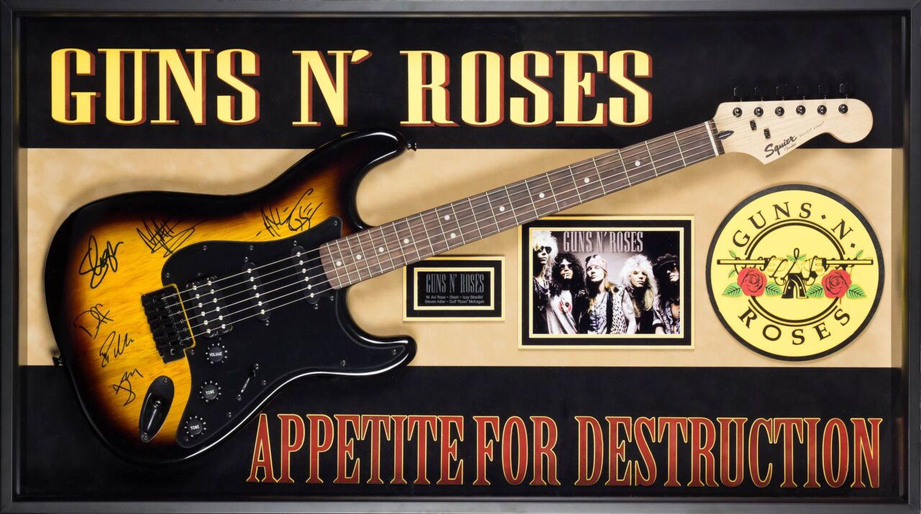 "Guns N' Roses ""Appetite for Destruction"" Autographed Guitar"