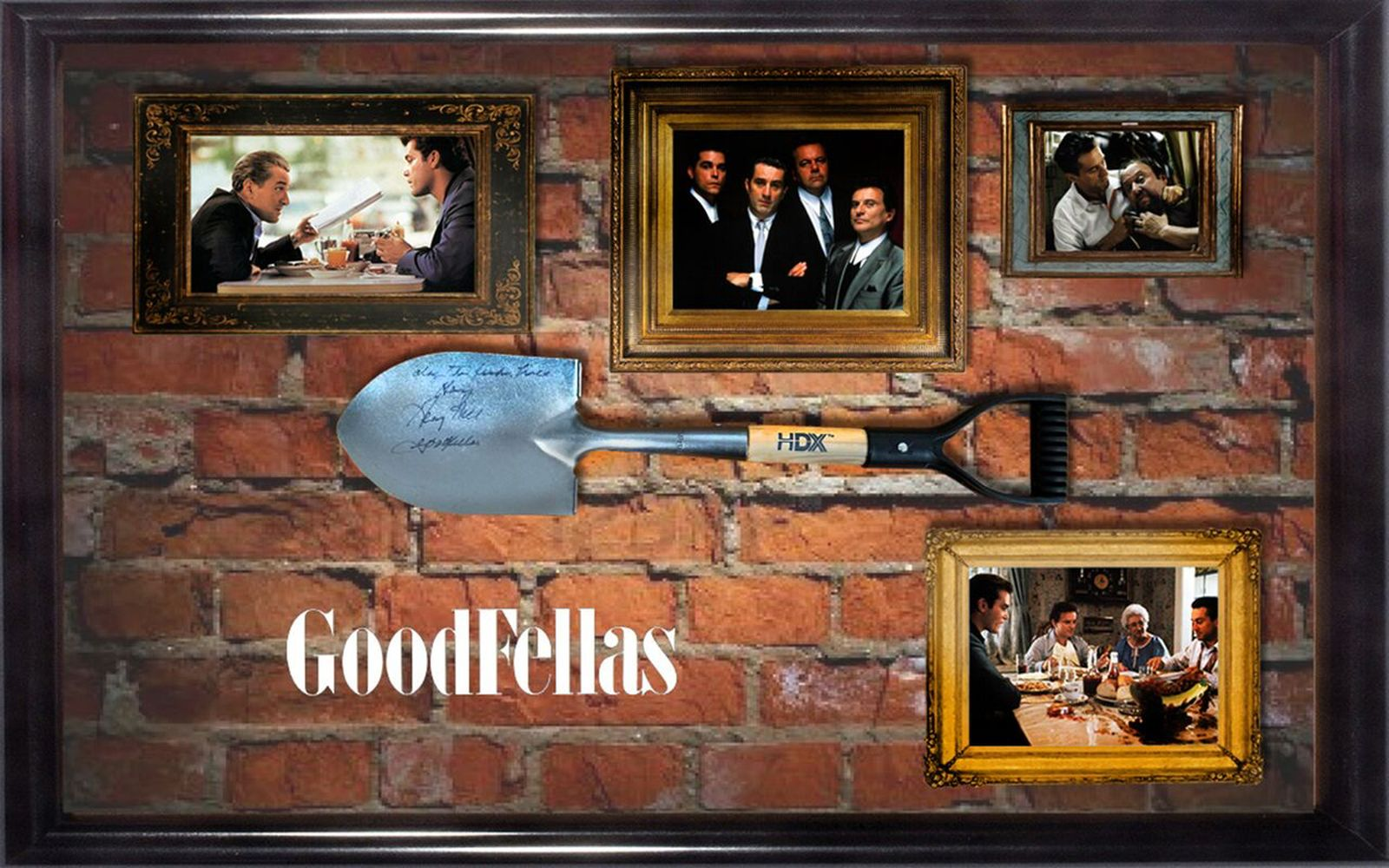 Goodfellas Framed Signed Shovel