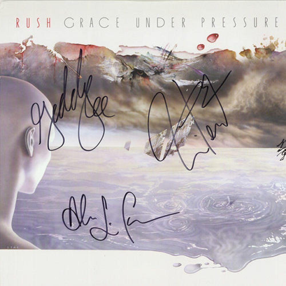 Rush Signed Grace Under Pressure Album
