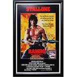 Rambo First Blood Part II - Signed Movie Poster