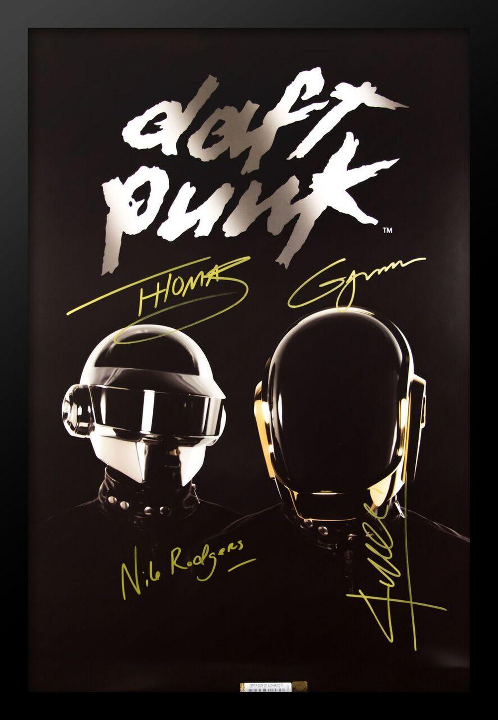 Daft Punk Signed Music Poster