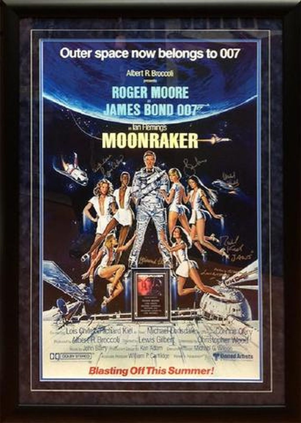 James Bond Moonraker - Signed Movie Poster