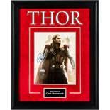 Thor Photo Signed by Chris Hemsworth Framed Artist Series