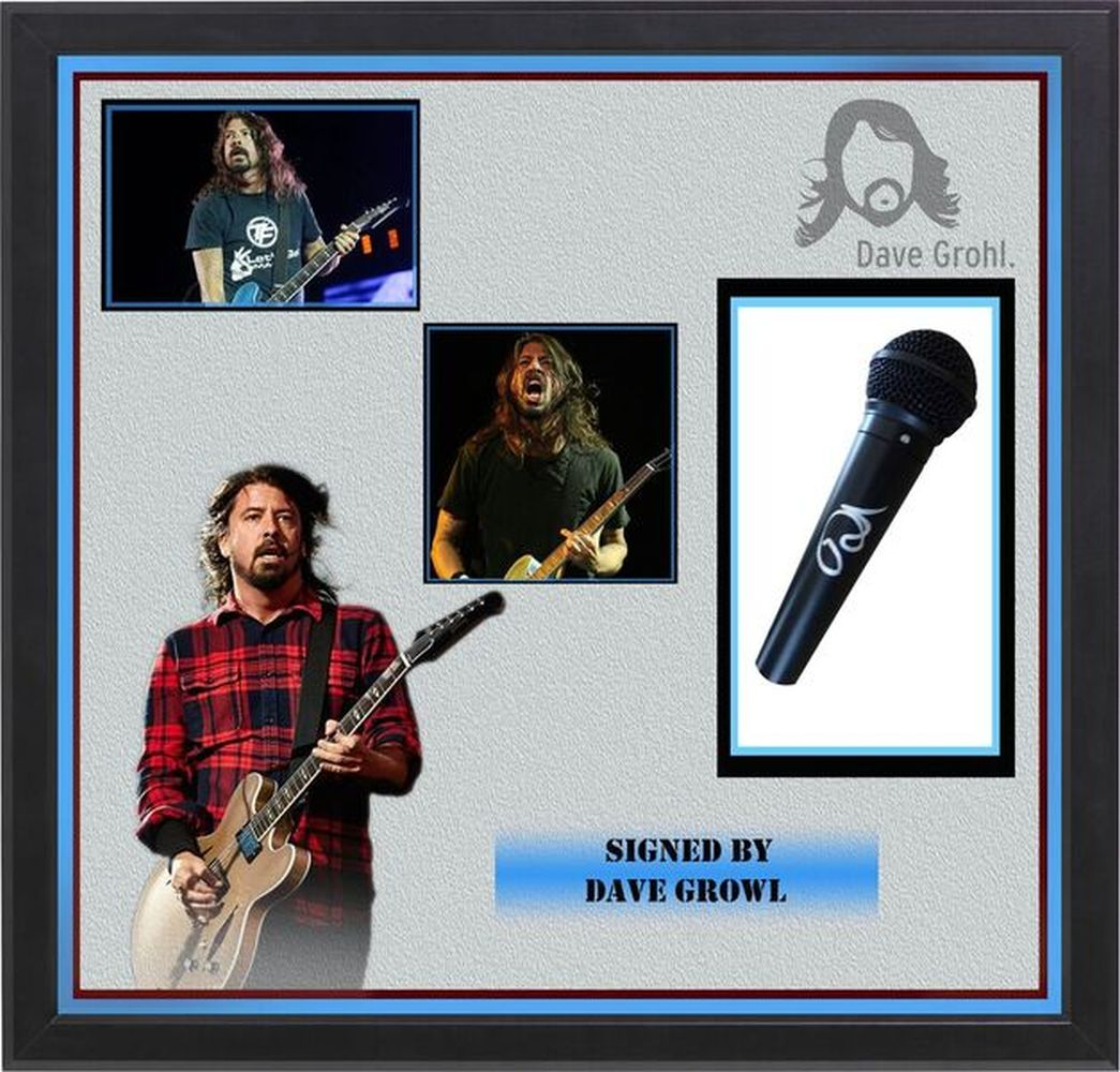 Dave Grohl Signed Microphone