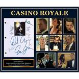 James Bond Casino Royale - Signed Movie Script in Photo Collage Frame