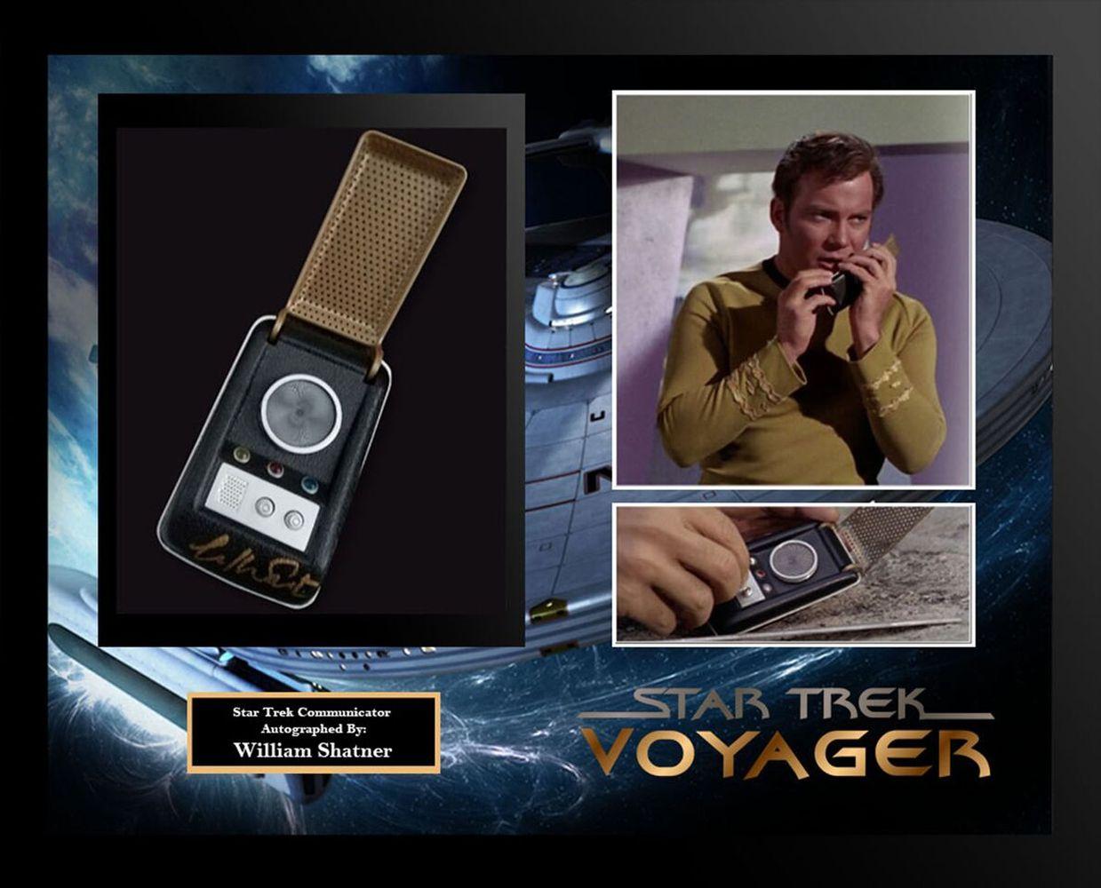 Star Trek Framed Signed Communicator