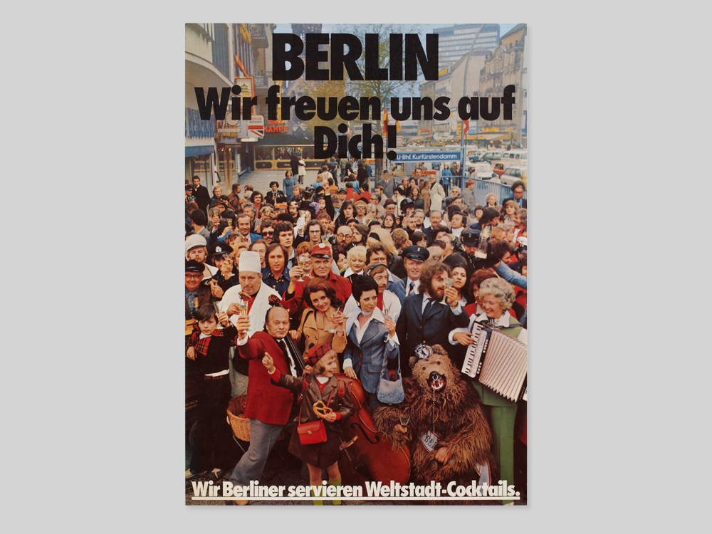 "Lot 37 - West-Berlin ""World city cocktails"" advertising poster, 1970s Germany, around 1970Offset print on"
