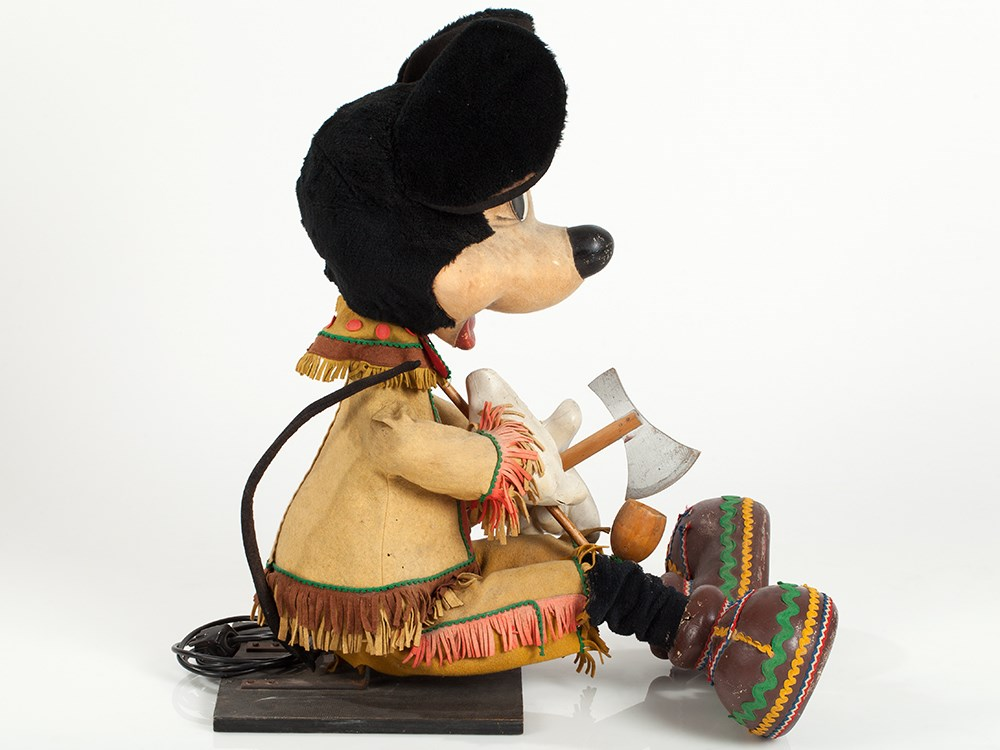 """Lot 3 - Mechanical Advertising Displays """"Micky and Minnie Mouse"""", 1960s Pair of functional, electrically"""