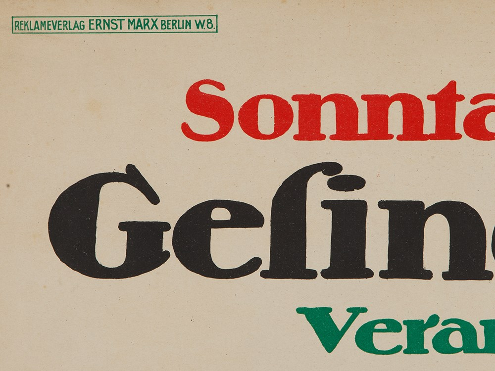 Martin Jacoby-Boy, Poster 'Gesindeball im Zoo', 1912Colour lithography on paperGermany / Berlin, - Image 5 of 7
