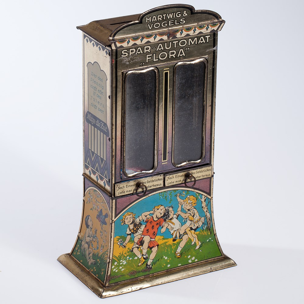 "Lot 4 - Large Hartwig & Vogel savings bank vending machine ""Flora"" 1910Hartwig & Vogel savings bank"