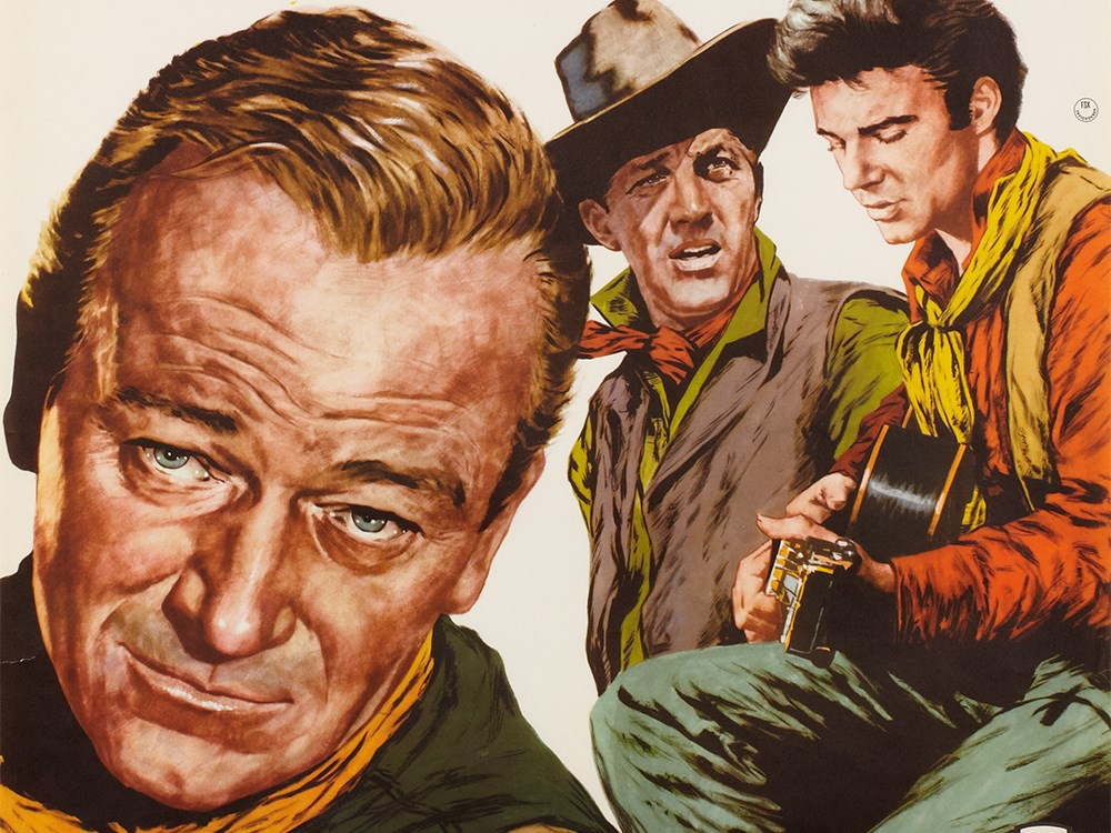 """Lot 38 - Stylish """"Rio Bravo"""" advertising poster by Rolf Goetze, 1959 Germany, 1959Offset print on paperWith"""
