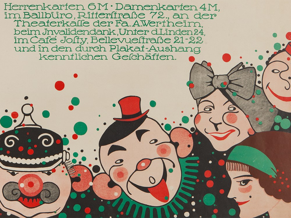 Martin Jacoby-Boy, Poster 'Gesindeball im Zoo', 1912Colour lithography on paperGermany / Berlin, - Image 4 of 7