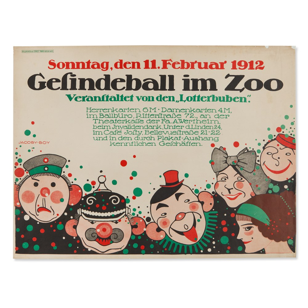 Martin Jacoby-Boy, Poster 'Gesindeball im Zoo', 1912Colour lithography on paperGermany / Berlin, - Image 7 of 7